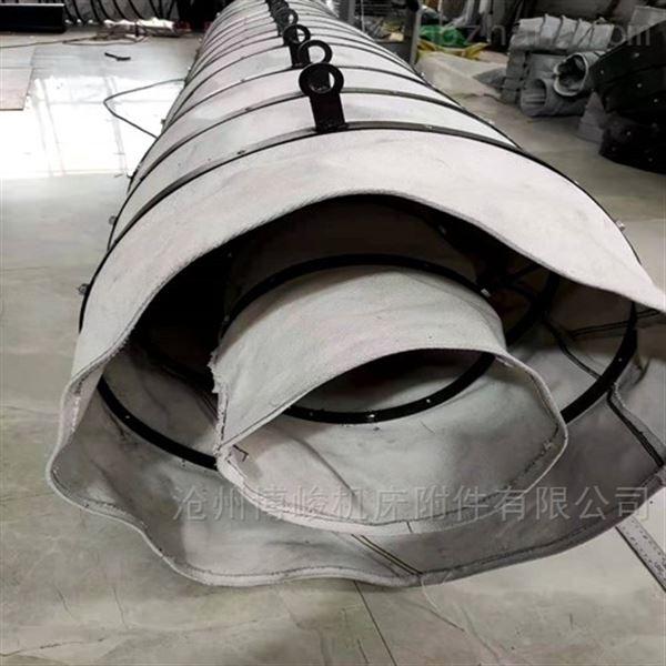环保设备除尘耐用帆布伸缩袋价格