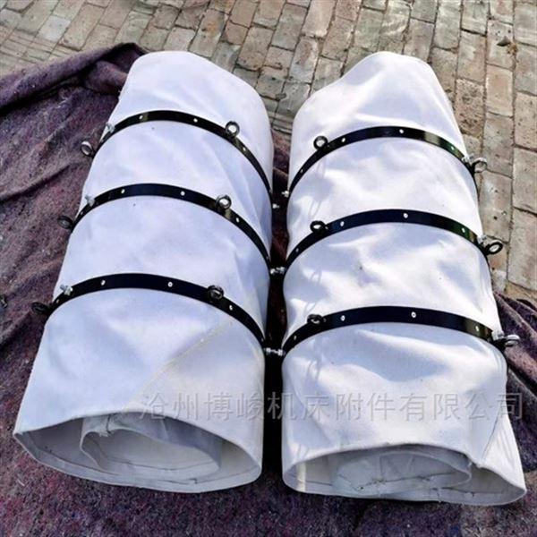 钢套连体外圈帆布伸缩卸料布袋厂家
