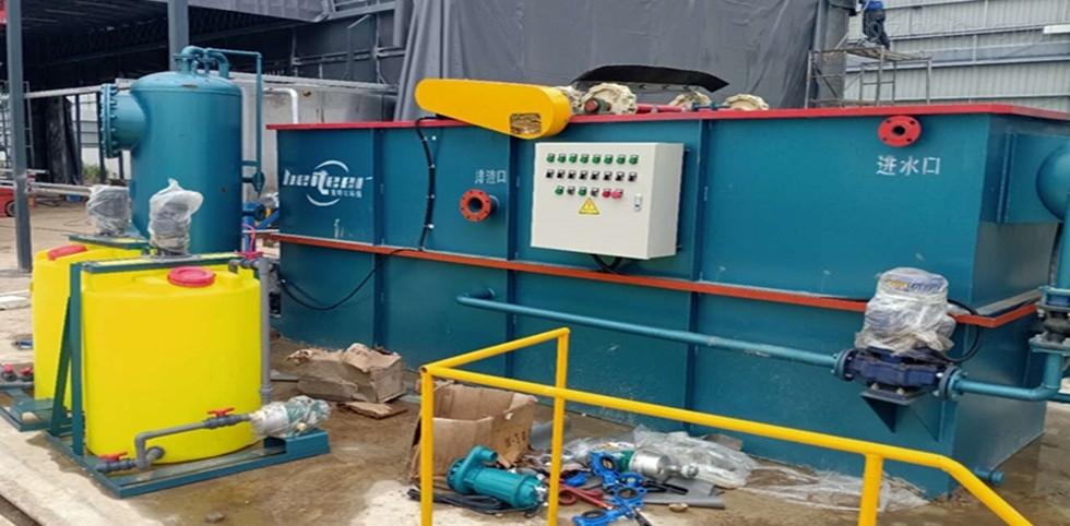 養殖場污水處理氣浮機運行中