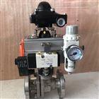 电磁气动开关球阀Q641F-16P