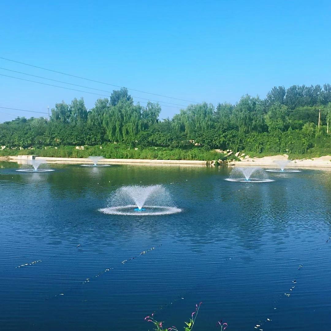 提水式喷泉曝气机扬水景观河道人工湖增氧