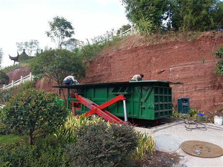 生产垂直压缩垃圾站