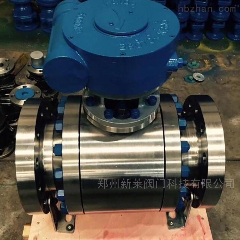 Q341F-100P不锈钢涡轮锻钢球阀