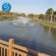 喷泉曝气机安装示意图