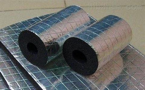 阻燃橡塑海绵保温板贴压花铝箔