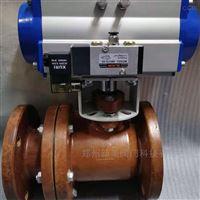 Q641SA-10气动玻璃钢法兰球阀