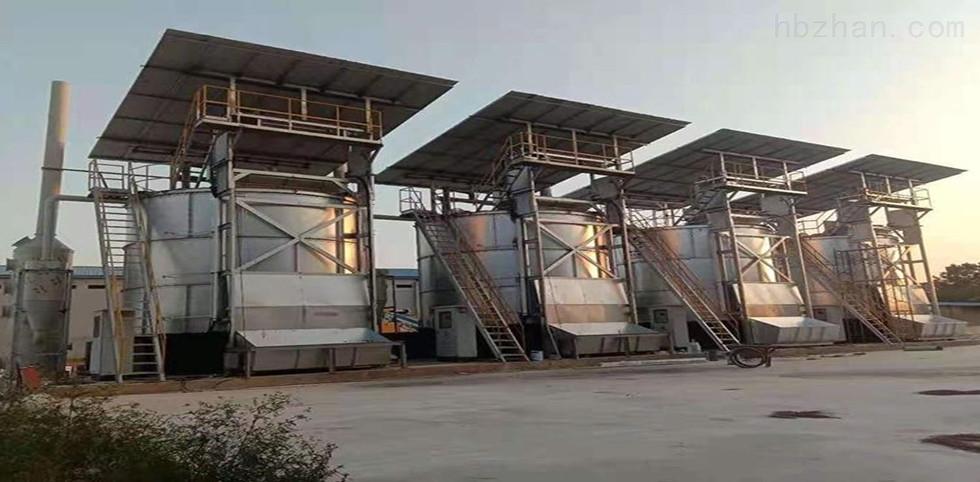 养殖场粪污处理有机肥发酵罐安装现场