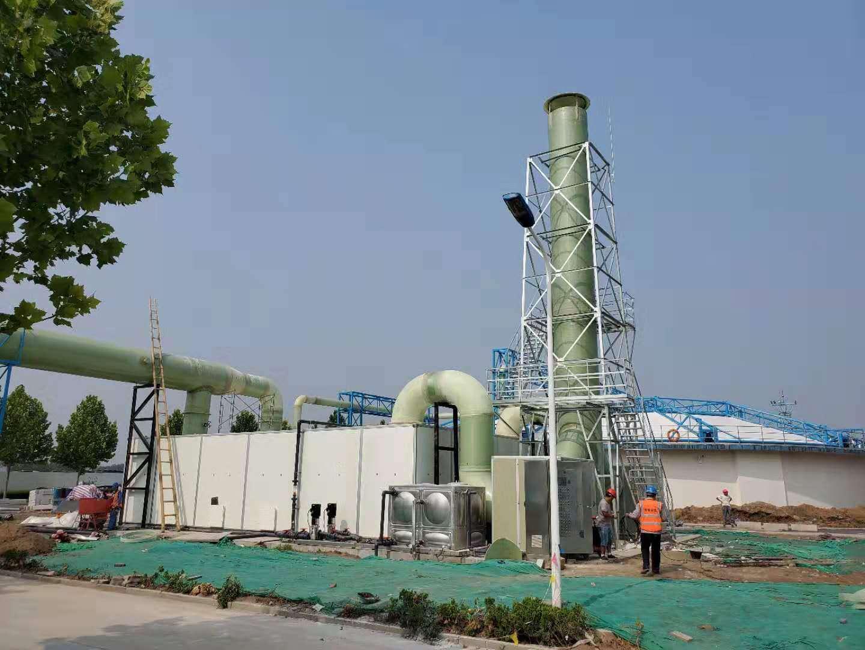 生物除臭设备服务于新疆污水处理厂