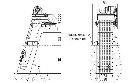 机械格栅结构简图