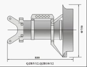 QJB型潜水搅拌机的安装尺寸图