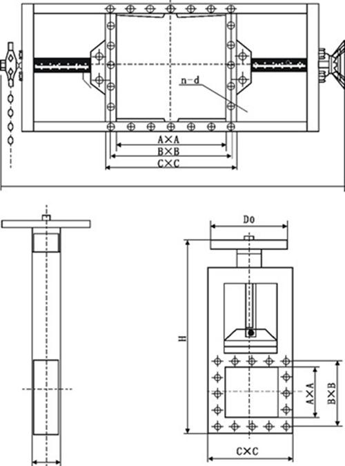 气动螺旋闸门图