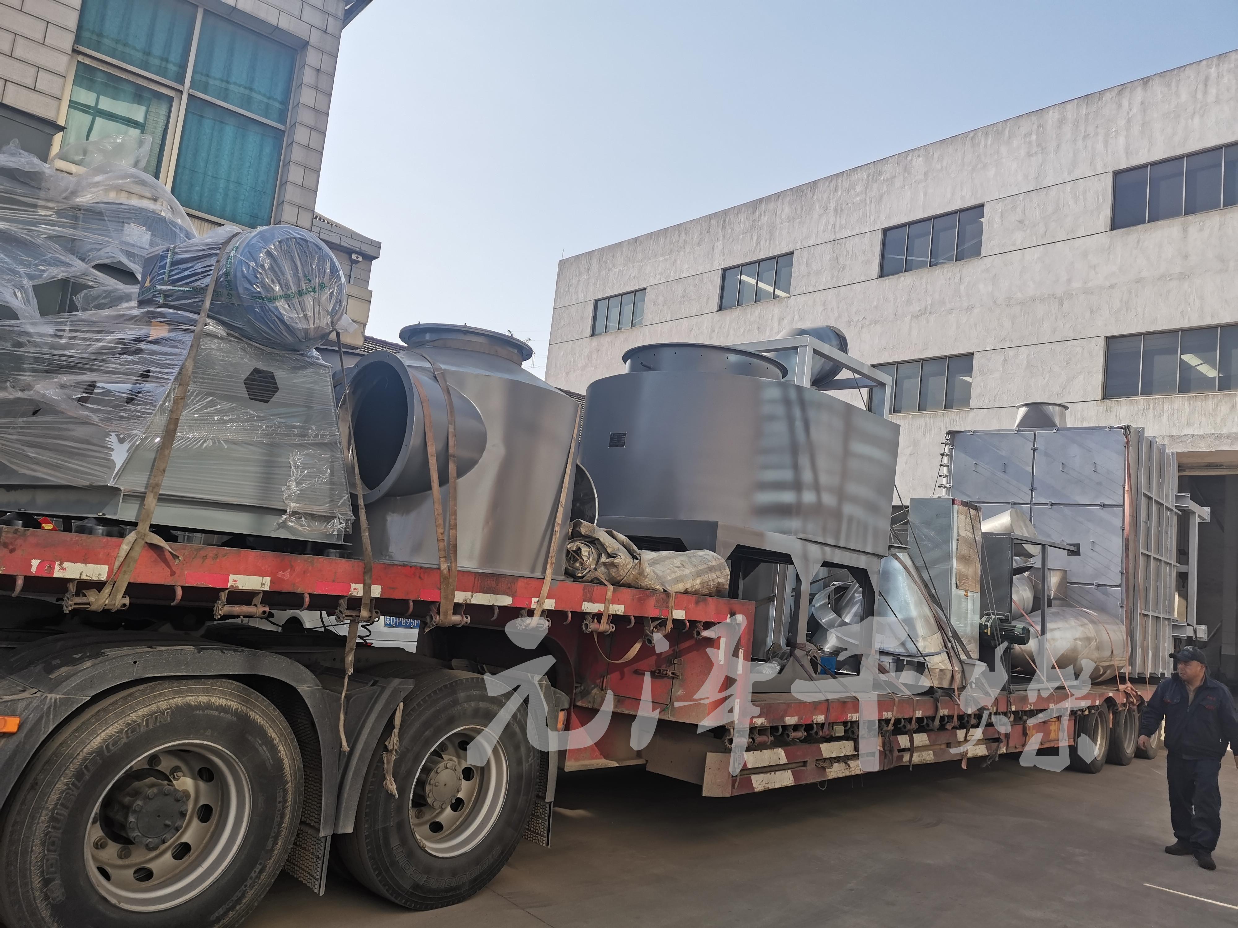 安徽安慶市某新材料科技公司在我公司訂購的閃蒸干燥機已成功發貨!
