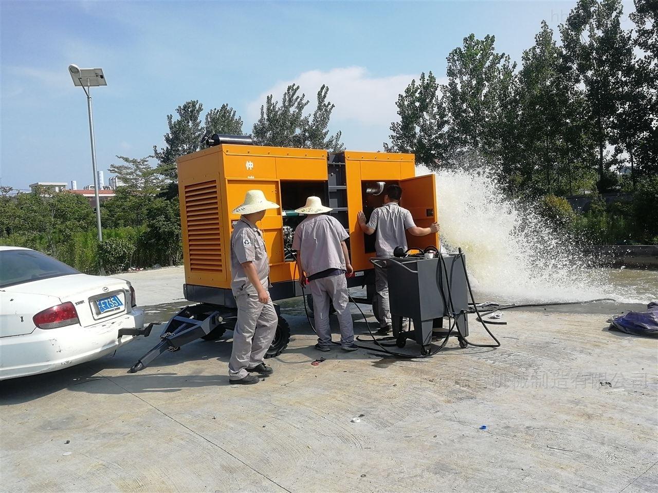 自吸泵车工作