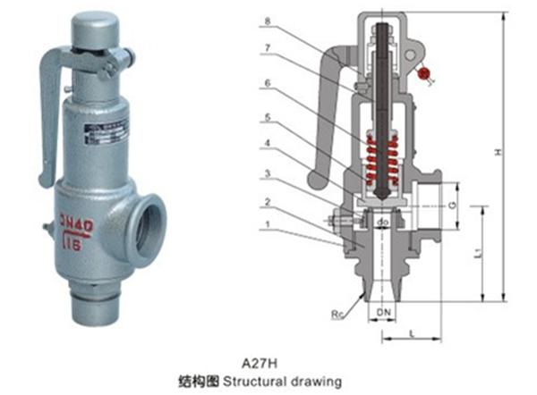 <strong>A27H弹簧微启式安全阀</strong>图