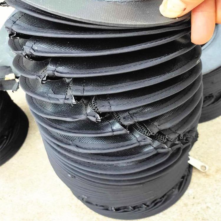 拉链式液压油缸圆形保护罩