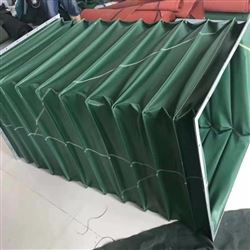 绿色帆布环保设备排烟通风伸缩软管